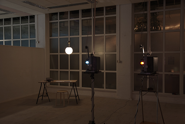 Installation view, The Woodmill, London